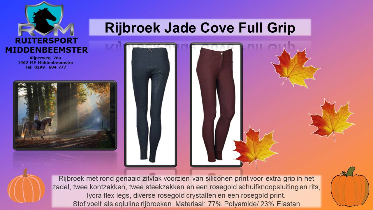 Jade Cove Full Grip. Herfst bij Ruitersport Middenbeemster sept 2020