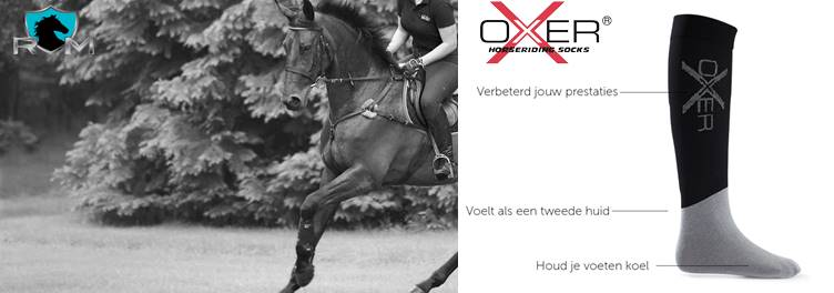 Oxer socks. Ruitersport  Middenbeemster