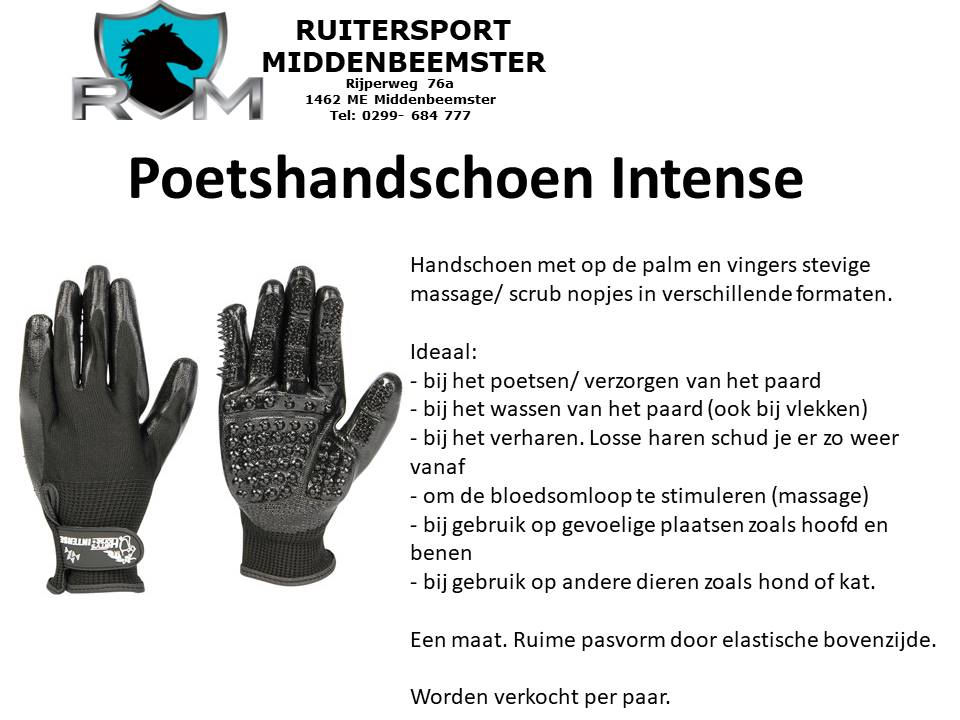 Poetshandschoen Intense. aug 2020