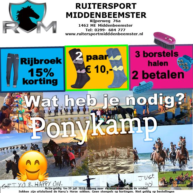 Pony kamp. Ruitersport Middenbeemster