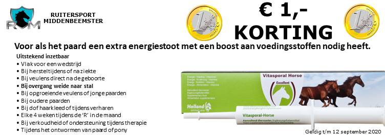 September acties 2020. Ruitersport Middenbeemster. vitasporal